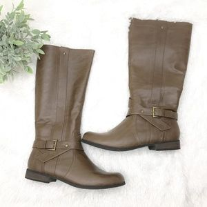 NWT Brown Knee High Long Boots Size 11